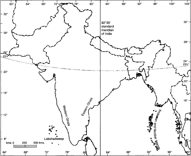 India map showing neighboring countries