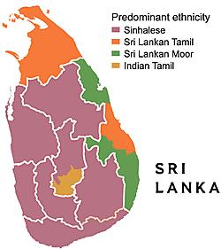 Ethnic composition of Sri Lanka